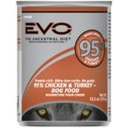 Evo 95% Chicken & Turkey Canned Dog Food