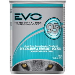 Evo 95% Salmon & Herring Canned Dog Food