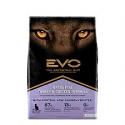 Evo Grain Free Turkey & Chicken Cat Food (7kg)