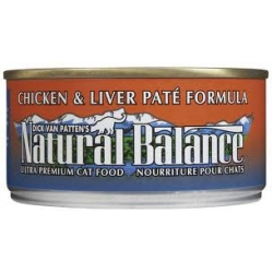 Natural Balance Chicken & Liver Pate Formula Canned Cat Food 170gm