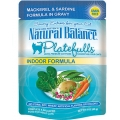 Natural Balance Platefulls Indoor Formula Mackerel & Sardine in Gravy (0.085kg)