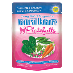 Natural Balance Platefulls Chicken & Salmon Formula in Gravy (0.085kg)