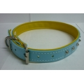 Pet Collar PVC with studs (Blue)