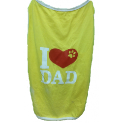 T-Shirt: I Love Dad yellow Jersey
