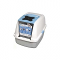 Catit Hooded Cat Litter Pan - Blue, Grey & White