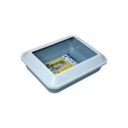 Catit Littershield Cat Pan - Blue (Medium)