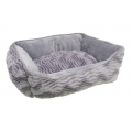 "Catit Rectangular Reversible Cuddle Bed Grey (23x19x9"")"