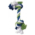 Dogit Dog Knotted Rope Toy, Multicoloured Rope Bone, Large