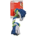 Dogit Blue-Lime-White Cotton Rope Bone -Medium