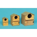 "Wooden Bird House (6""X 6""X 8.5""H)"